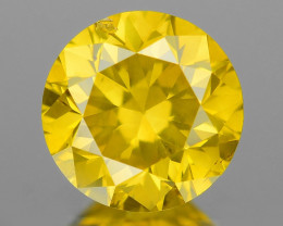 Natural Yellow Diamond Sparkling Luster Vivid Color YD5