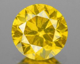 Natural Yellow Diamond Sparkling Luster Vivid Color YD6