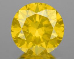 0.52 Ct Yellow Diamond Sparkling Luster Vivid Color YD7