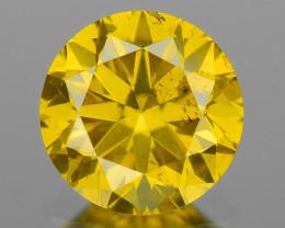 0.50 Ct Yellow Diamond Sparkling Luster Vivid Color YD9