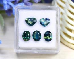 Sapphire 3.99Ct VS Natural Australian Parti Sapphire Lot Box C2923
