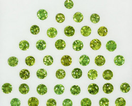 8.32 Cts Natural Demantoid Garnet Round 82 Pcs Parcel