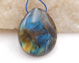P0209 - 74.45 Ct Natural Labradorite Gemstone Pendant Bead,Natural Gemstone