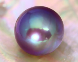 13.3mm 16.93Ct Natural Tahitian Purple Black Pearl AT03