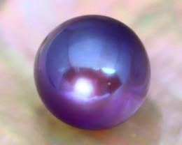 12.3mm 13.08Ct Natural Tahitian Purple Black Pearl AT04