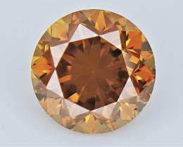 0.50 cts , Orange Colored Diamond , Natural Sparkling Diamond
