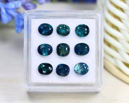 Sapphire 4.82Ct Oval Cut Natural Unheated Blue Sapphire Lot Box B3004