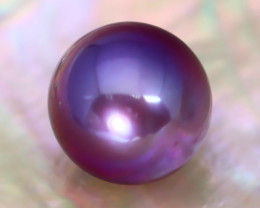 12mm 12.20Ct Natural Tahitian Purple Black Pearl AT16