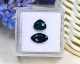 Sapphire 2.86Ct 2Pcs Natural Unheated Madagascar Blue Sapphire B3027