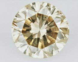 0.53 cts , Natural Color Diamond , Polished Diamond