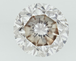 0.48 cts ,  Sparkling Natural Diamond ,  Clean Diamond , ,Champagne