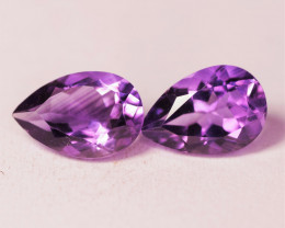 5.55 Cts Paired Natural Purple Amethyst Gemstone