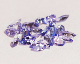 2.60 Cts 25 Pcs Violet Blue Color Natural Tanzanite Gemstones