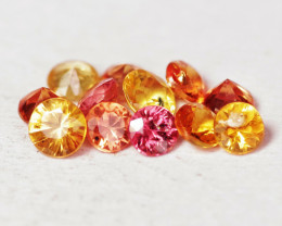 1.12 Cts 12 Pcs Fancy Mixed Colors Natural  Sapphire Gemstones