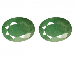 4.47 Cts Paired Natural Green Colombian Emerald Gemstone