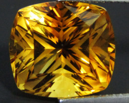 9.15Cts Wow Amazing Natural Citrine Fashion Cushion Cut Collector Gem SEE V