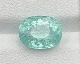 Paraiba 3.00 CT Tourmaline Paraiba Gemstone top cutting