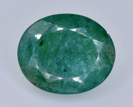 4.88 Crt Natural Emerald  Faceted Gemstone.( AB 27)