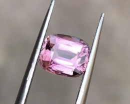 1.56 Carats Natural Pink Tourmaline Cut Stone from Afghanistan