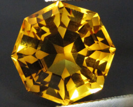10.55Cts Genuine  Natural  Citrine Octagonal Fashion Cut Collection  Gem RE