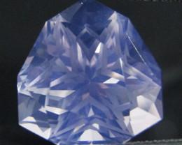 13.22Cts Genuine Amazing Trillion Custom Cut Lavender Color Quartz REF VIDE