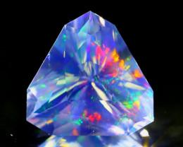 ContraLuz 4.74Ct Trillion Cut Mexican Very Rare Species Opal A0108