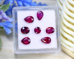 Ruby 3.04Ct Natural Mozambique Pigeon Blood Red Ruby Lot Box A0111