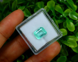 Emerald 2.11Ct Colombian Muzo Emerald Neon Mint Green Beryl Box A0113