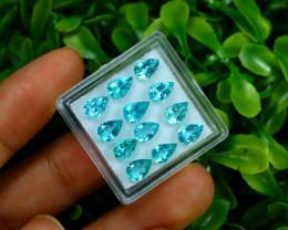 Apatite 5.62Ct VVS Pear Cut Natural Paraiba Color Apatite Lot Box A0121