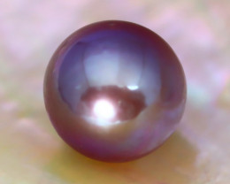10.8mm 8.66Ct Natural Tahitian Purple Black Pearl A0133