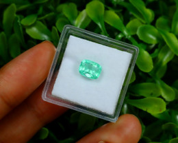 Emerald 1.16Ct Colombian Muzo Emerald Neon Mint Green Beryl C0124