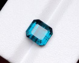 2.90 Ct Natural Blue Indicolite Transparent Tourmaline Ring Size Gemstone