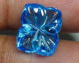 6.410 CRT LOVELY SWISS BLUE TOPAZ VERY CLEAR-