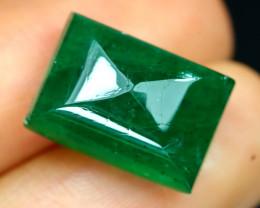 Emerald 11.53Ct Natural Zambian Imperial Green Color Emerald B0217