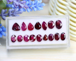 Ruby 8.97Ct Natural Mozambique Pigeon Blood Red Ruby Lot Box B0220