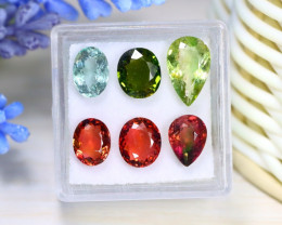 Tourmaline 8.02Ct 6Pcs Natural Mozambique Fancy Tourmaline Box B0227