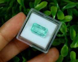 Emerald 4.37Ct Colombian Muzo Emerald Neon Mint Green Beryl B0231