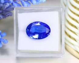 Tanzanite 4.74Ct VVS Oval Cut Natural Vivid Blue Tanzanite Box B0237