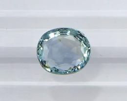 2.20ct unheated greenish blue sapphire