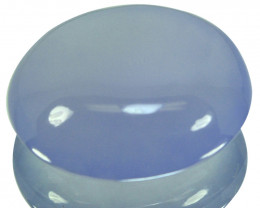 ~UNTREATED~ 22.88 Cts Natural Blue Chalcedony Oval Cabochon Brazil