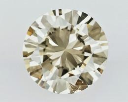 0.52 cts  ,   fancy color diamond ,  BROWN COLOR DIAMOND