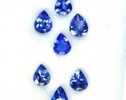 1.99 Cts Natural Purple Blue Tanzanite 5x4mm Drop Cut 7Pcs Tanzania