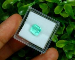 Emerald 1.80Ct Colombian Muzo Emerald Neon Mint Green Beryl A0314