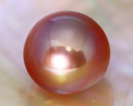 11.6mm 12.09Ct Natural Tahitian Golden Black Pearl A0327