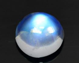 1.26 Cts Natural Royal Blue Moonstone Round Cabochon Bihar-India