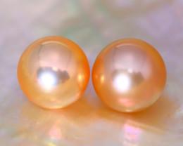 8.1mm 7.14Ct Natural Japan Akoya Orange Color Pearl C0324