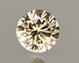 ~UNTREATED~ 0.13Cts Natural Champagne Diamond Round Africa
