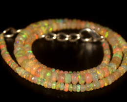 42 Crts Natural Welo Faceted Opal Beads Necklace 342