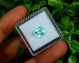 Emerald 1.21Ct Colombian Muzo Emerald Neon Mint Green Beryl C0332