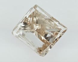0.72 cts Princess Brilliant Cut Diamonds; Square Gemstone